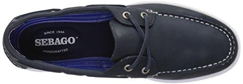 Sebago Litesides Two Eye, Chaussures Bateau Homme Bleu (Navy Leather)