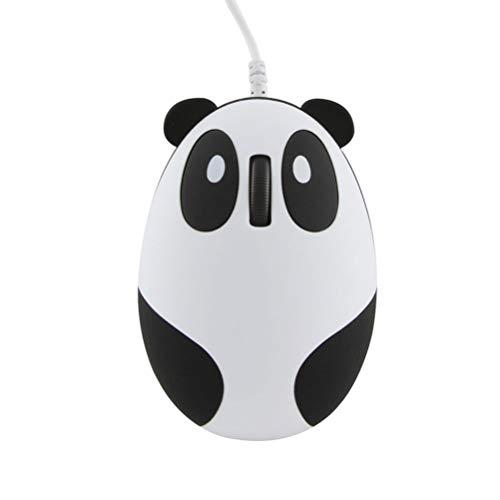 3C Kingdom Super Süß Verdrahtete Maus Panda Form Klein Mouse Neuheit Tragbar PC Computer Laptop Maus für Frauen Kinder Mädchen