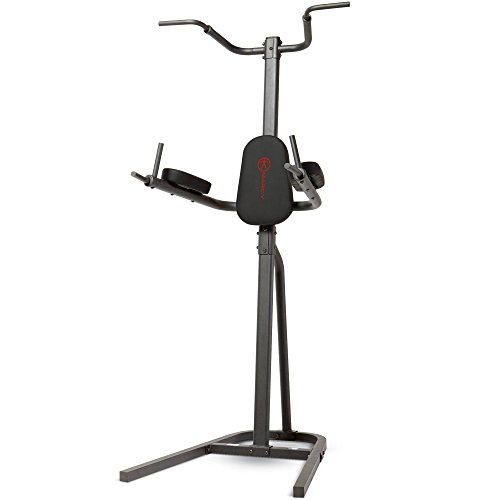 Marcy Eclipse CT6000 Power Tower Pull Up and Dip Station, 21 Stone Capacity - One Size, Black