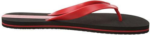 Calvin Klein Herren Zehentrenner 1 Pack Rot (BLACK/CHINESE RED CL4)