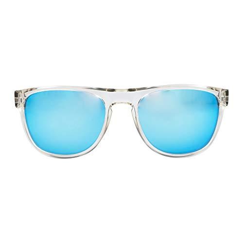 MessyWeekend Makalu - Sonnenbrille Polarisiert Herren, Damen - Kristall Blau Revo Dänische Designer Sonnenbrille mit UV400 Schutz
