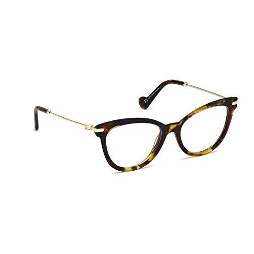 Moncler Unisex-Erwachsene Brillengestelle Ml5018, Braun (Avana COLORATA), 53