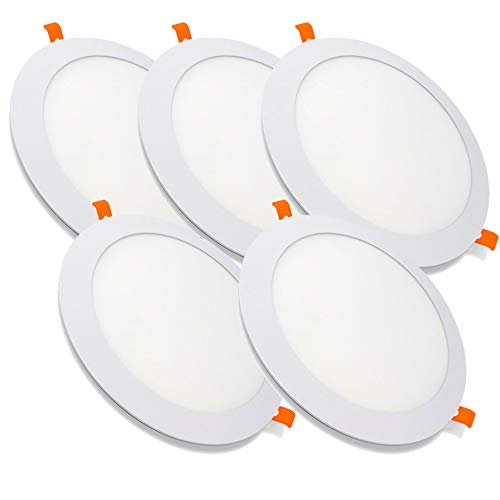 Pack de 5 Paneles LED Redondos ECOMAX · Downlight LED para Encastrar...