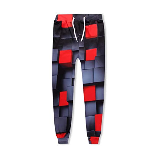 Schwarzer und roter Würfel Rubik's Cube Men Sets 3D Trainingsanzüge Jogginghosen Hooded Sweatshirts Pullover, Jogger Pants M Dressy Pant Schwarz
