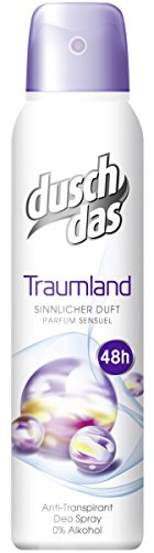 Duschdas Deospray Traumland Anti-Transpirant, 3 X 150 ml (Aluminium-freie Deos)