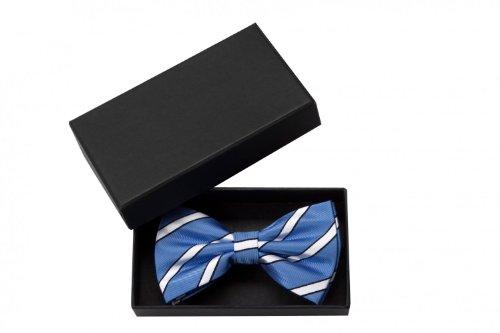 Noeud papillon de Fabio Farini en blu blanc noir