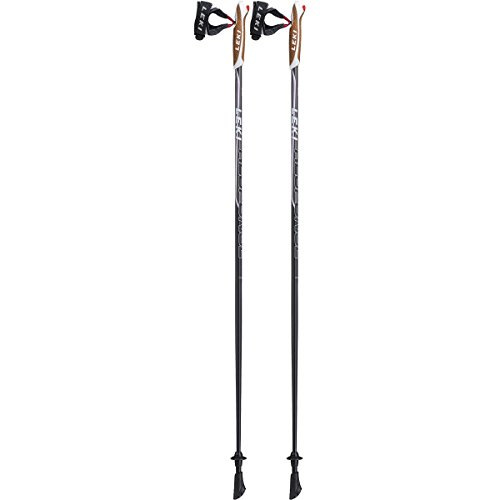 LEKI Damen Response Lady Nordic Walking Stock, Black/Anthracite-White-Light Blue, 100