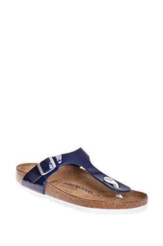Birkenstock Womens Gizeh Thong Sandal, Dress Blue, 37 M EU - Womens Blue Jelly