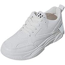 Zapatillas de Mujer Zapatos Casuales Zapatos Blancos pequeños Zapatos Viejos Cabeza Redonda Cuñas Casual Zapatilla de