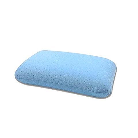 uus Memory Foam kleine Kissen reine Farbe Muti-Funktion Slow-Rebound Kissen geeignet für Bett / Sofa / Stuhl / Auto ( Farbe : Blau )