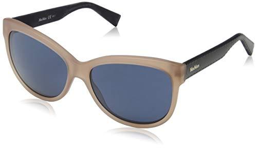 Max mara mm tailored i ku mdl, occhiali da sole donna, blu (blueebrw bluette/bluette avio), 57