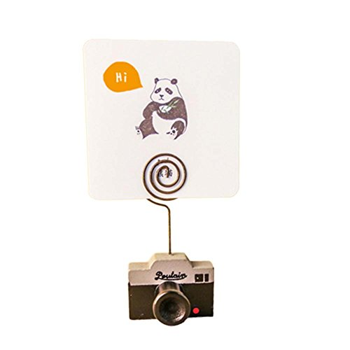 Clips, Cute Kamera TV Telefon Form Hinweis Memo Karte Halter Ständer Clip Tisch Dekoration für Home Office 1pcs Camera ()