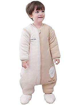 Chilsuessy Baby Schlafsack mit Beinen und abnehmbaren Ärmeln Kleine Kinder Strampler Schlafanzug Baumwolle Winter...