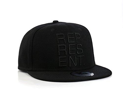 Underground Kulture 'Represent' Schwarz Hip Hop Snapback Baseballkappe (Black)