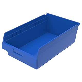 akro-mils 30018blue shelfmax Kunststoff Mülleimer Box Regal Nistkasten, 17–7/8L x 11–1/8Zoll W x 6H, Blau, 8er Pack