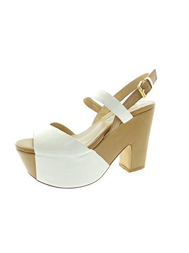 LUCIANO BARACHINI 4031 C Sandalo Donna Bianco/Beige