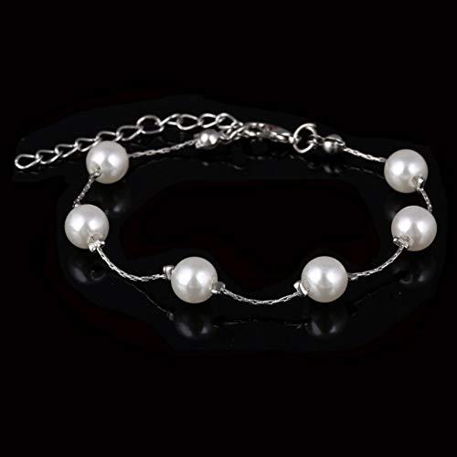XIHUANA Top Qualität Rose Gold/Silber Kette Perle Perlen Charme Armband Modeschmuck Großhandel Armbänder Für Frauen Schmuck