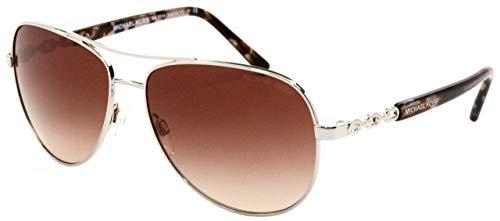 Michael Kors Unisex MK5014 Sabina III Sonnenbrille, Silber (Silver 102713), One size (Herstellergröße: 59)