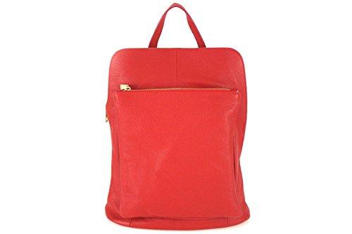 Borse a Tracolla e Zaini Lady Florence in Vera Pelle, Made in Italy Rosso
