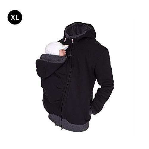 Samber Multifunktions-Känguru-Mantel Männertragejacke für Papa Pullover für Männer Kapuzenjacke Tragetuch Und Papas Elternpaket Kinderbetreuung Tasche
