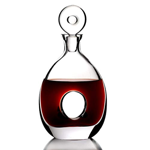 Rotwein Classic Rot Weindekanter Dekanter Wein karaffe | 600ML Hochwertig Dekantier | Harmony Kollektion | Dekantierer Glaskaraffe Dekantierkaraffe | Perfekt für zu Hause, Restaurants und Partys