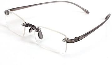 Generic Grey Rimless Light Presbyopic Reading Glasses Fatigue Relieve Strength 2.0