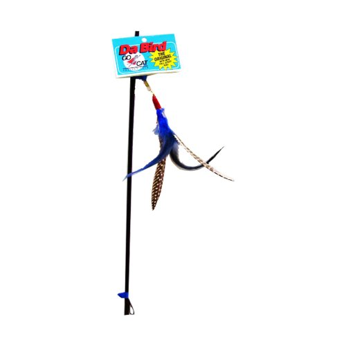 GoCat Da Bird Pull Apart Rod and Bird Cat Feather Toys, Assorted Colors by Go Cat - Cat Rod