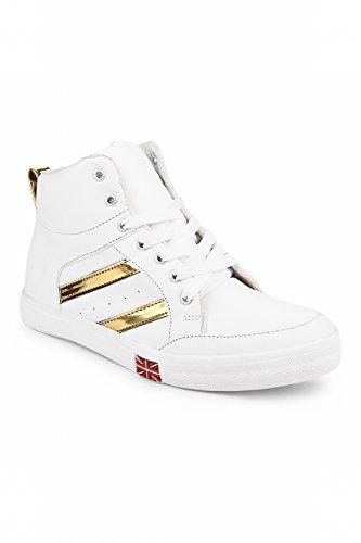 Zapatoz Women's PU Rexine White Boots_(06603-white-36)