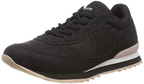 ESPRIT Damen Astro Nylon LU Sneaker, Schwarz (Black 001), 42 EU