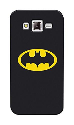 Phonix SJ500WB1 une Véritable Coque AUTHENTIQUE avec DC Comics Batman Logo pour Samsung GALAXY J5 J500, Coques iphones