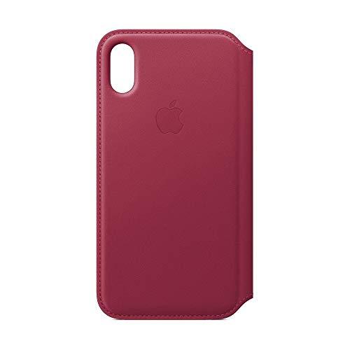 Apple iPhone X Leder Folio, Beere