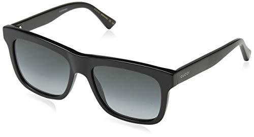 Gucci Unisex-Erwachsene GG0158S 001 Sonnenbrille, Schwarz (1/Grey), 54