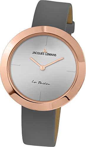 Jacques Lemans La Passion Reloj de mujer cuarzo 37mm correa de cuero 1-2031G