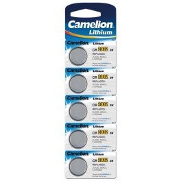 CAMELION - Lot de 5 piles CR2032 3V