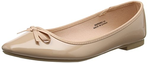 New Look Women's Wide Foot Laire Ballet Flats, Beige (Oatmeal), 6 UK 39 EU