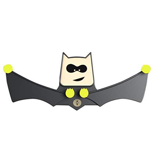 DingLong 360 ° Drehung Universal Auto Kfz Handyhalterung für Android/iPhone,Automatisches Ver- und Entriegeln Safe Grip Car Bat Lüftung Handyhalter 18.5 x 7.5 x 5cm (Schwarz)
