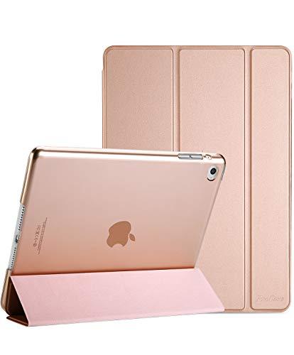 ProCase iPad Air 2 Ultra Dünn Smart Hülle, Leichte Stand Schutzhülle Shell mit Translucent Frosted Rückhülle für Apple iPad Air 2 (A1566 A1567) -Rosagold