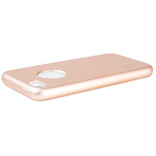 METALLIC Schwarz Hülle Apple iPhone SE / 5 / 5S - TPU Silikon Backcover Case Handy Schutzhülle Metall Optik Glossy- MOVOJA Cover Metallic iPhone 5 Schwarz Metallic Gold