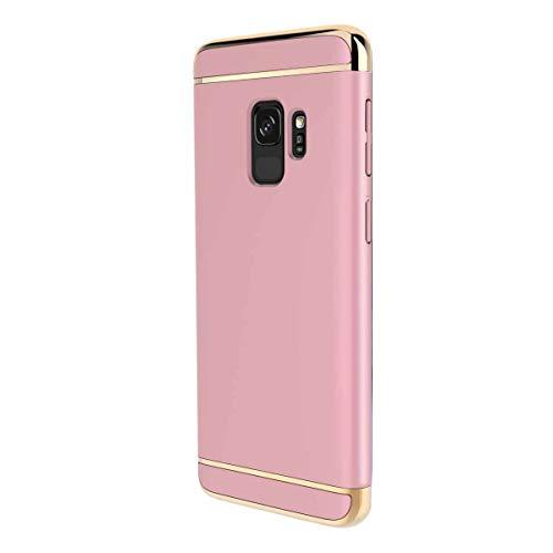 Dqueen-eur Galaxy S9 Hülle Case, 3-Teilige Extra Dünn Hart Slim Thin Hard Cover Stylich Hochwertig Schutzhülle Schale Handy Hülle für Galaxy S9-5.8 Zoll [3 in 1] (Galaxy S9, Roségold) 5.8 Handys