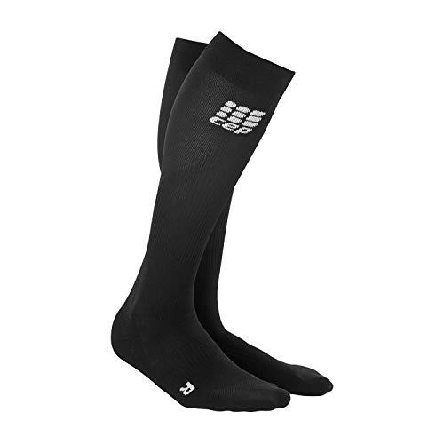 CEP - Run Socks 2.0 für Herren | Lange Laufsocken mit Kompressionswirkung in schwarz | Größe IV - Herren Kompression Socken