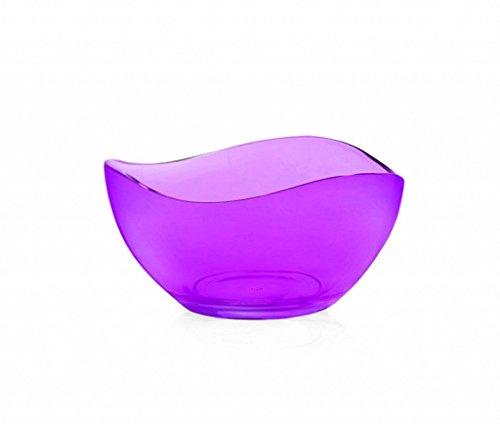 6 Coupelles Ø12 cm en 6 couleurs Saladier Bol Verre saladiers Coupes à Glace Bols à céréales violet
