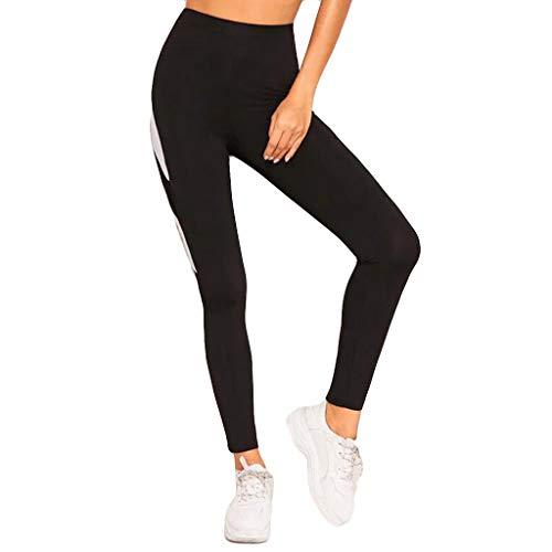 Hokoaidel Drucken Sport Leggings High Waist Frauen Push up Yoga Fitness Gym Damen Sporthosen Sportlich Mädchen Atmungsaktiv Strumpfhosen Slim Fit SkinnyHose Slim Fit