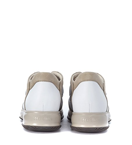 Hogan Sneakers Interactive Nubuk und Leder Beige Weiss Bunt