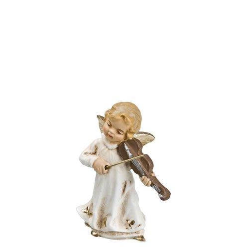Musizierender Engel mit Geige, antikweiß, zu 10 - 11cm Figuren