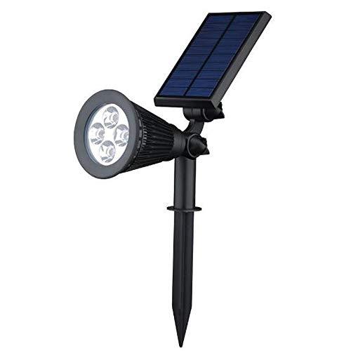 LIM 4 LED Solar Solarleuchten, Outdoor Wandleuchte, 4 LED Helle Garten-Licht, 2 Beleuchtungsmodi, Wasserdicht,Sicherheitsbeleuchtung, Großes Außenlicht Für Garten