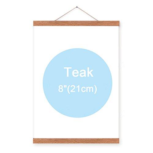 Teak Farbe 20,3cm Natural Holz magnetische Rahmen Poster Kunstdruck Artwork Leinwand Aufhängen Quilt Clip Aufhänger (Quilt-rahmen)