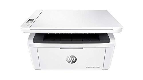 HP W2G55A LaserJet Pro M28w Stampante Laser Monocromatica, Multifunzione 3 in 1, Copia, Stampa e Scansione, Wi-Fi, Design Moderno e Compatto, Bianco