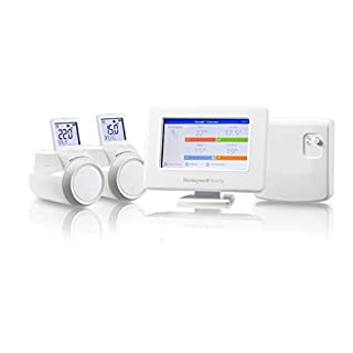 Honeywell Home THR99C3112 EVO Home Starter Kit with 2 x TRV Heads, White
