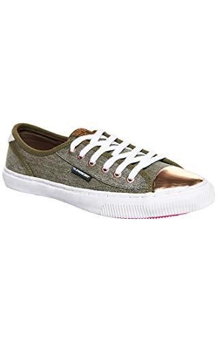 Superdry Damen Low PRO Luxe Sneaker Gymnastikschuhe, Braun (Washed Khaki Gvk), 39 EU