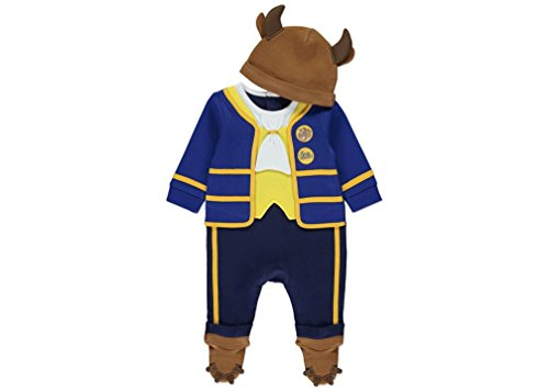 Officially Disney licensed Beast all-in-one fancy dress for babies aged 6-9 Months. Includes Hat with Soft Brown Horns and Ears. Made under Disney licence for the George Collection (Baby Kostüme Dress Fancy)